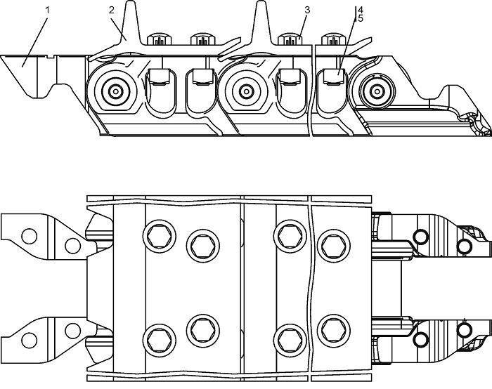 ТЖ 190-22-000/000-01 Гусеница бульдозера Четра Т 9