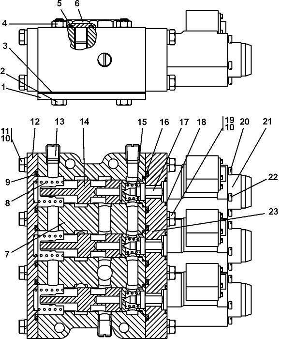 0901-15-2СП Блок управления бульдозера Четра Т 9