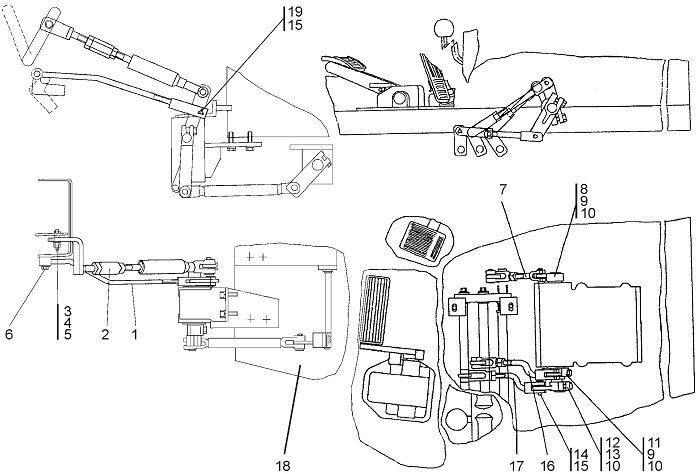 0901-13-1-01СП Управление трактором бульдозера Четра Т 9