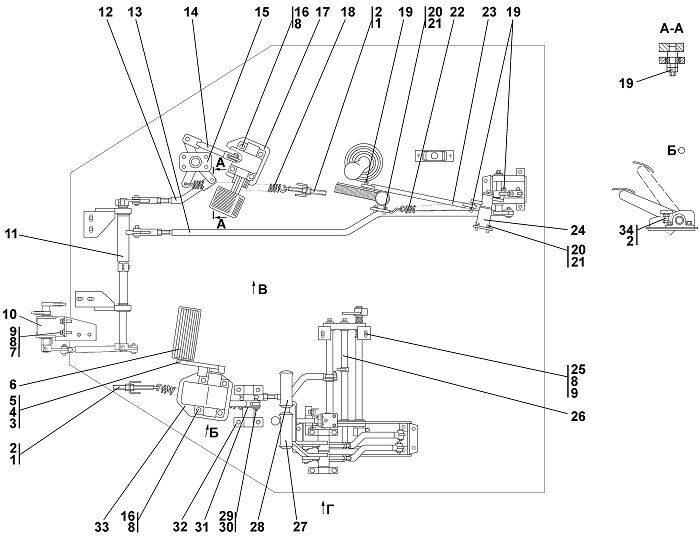 0901-13-50-01СП Привод управления бульдозера Четра Т 9
