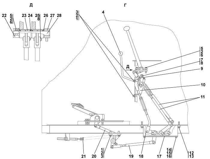 Привод управления бульдозера Четра Т 9