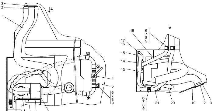 0901-47-2СП Установка зависимого отопителя кабины бульдозера Четра Т 9