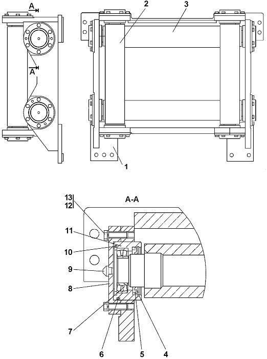 0901-96-11СП Установка роликов Четра Т 11