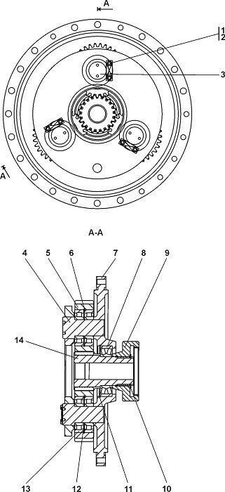 0901-96-106СП Редуктор планетарный Четра Т 11