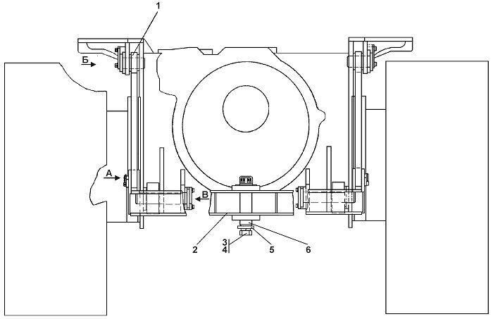 1101-51-1СП Установка прицепного устройства Четра Т 11