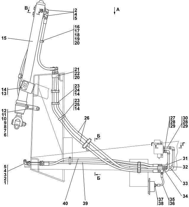 1101-26-12-01СП Установка гидроцилиндров Четра Т 11