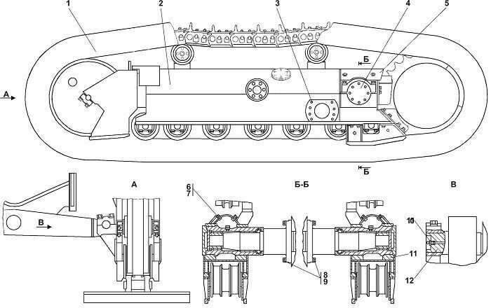 1112-21-1СП Система ходовая Четра Т 11