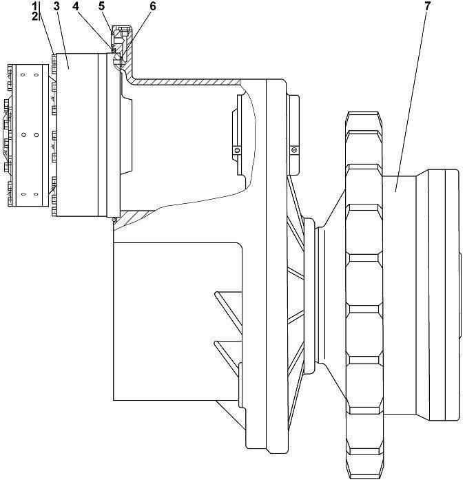 1112-19-1СП Передача бортовая, фрикцион и тормоз Четра Т 11