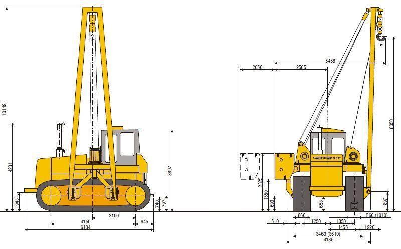 Схема трубоукладчика ТГ 511
