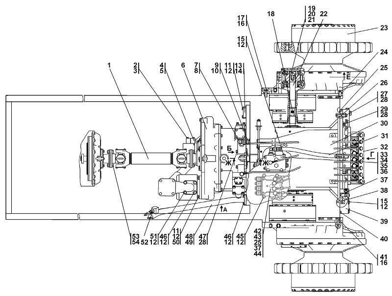 0901-16-1СП Установка трансмиссии бульдозера Четра Т 9