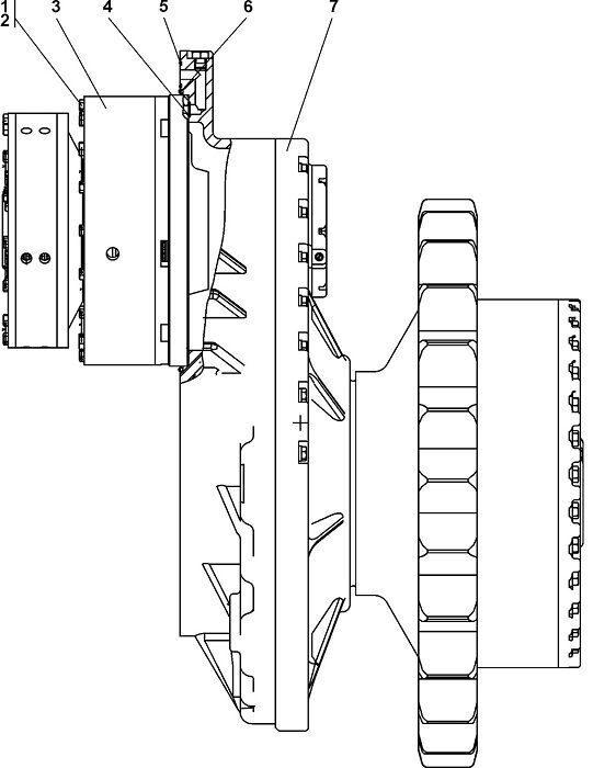 0901-19-3СП Передача бортовая фрикцион и тормоз бульдозера Четра Т 9