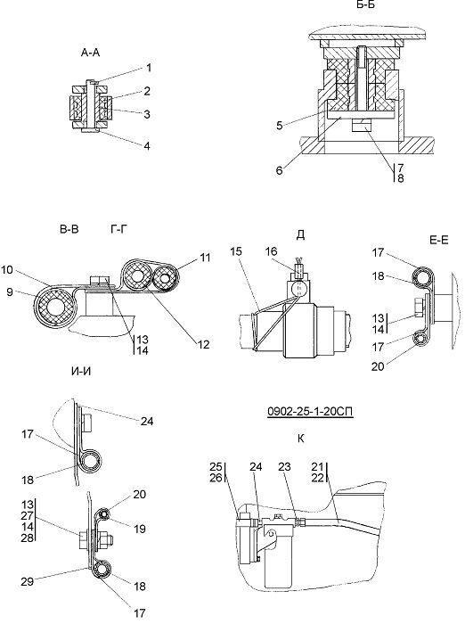 Установка бака бульдозера Четра Т 9
