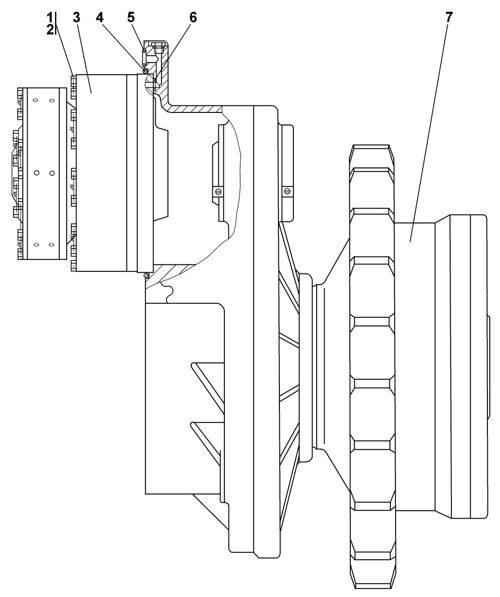 1101-19-2СП Передача бортовая, фрикцион и тормоз Четра Т 11