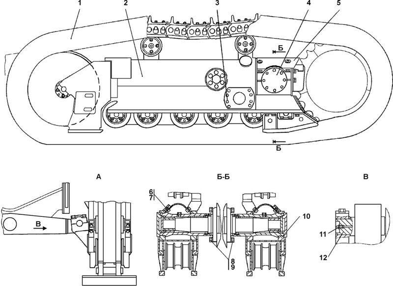 1101-21-1СП Система ходовая Четра Т 11