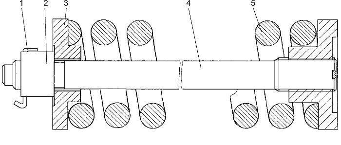 0901-21-116СП Механизм сдавания бульдозера Четра Т 9