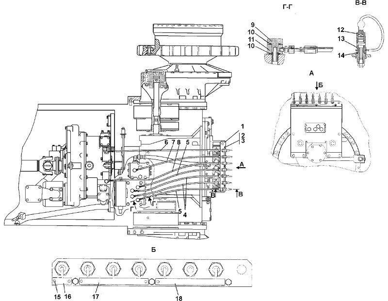 1101-15-22СП Система диагностики бульдозера Четра Т 9