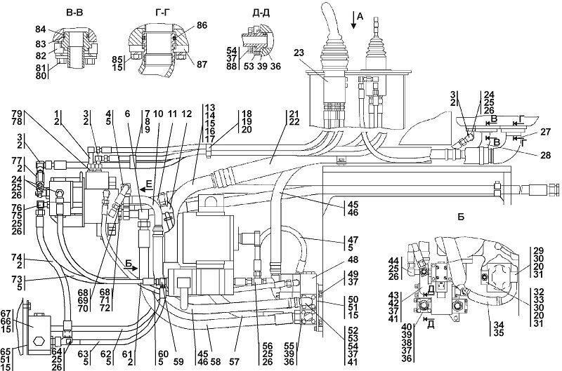 1101-26-2СП Установка гидросистемы Четра Т 11