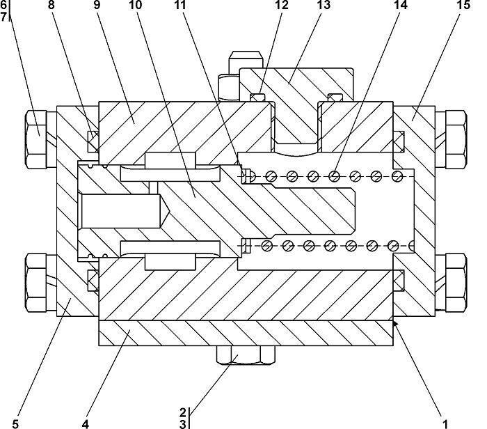 0901-15-3СП Клапан бульдозера Четра Т 9