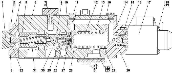 1101-15-27СП Клапан-модулятор бульдозера Четра Т 9