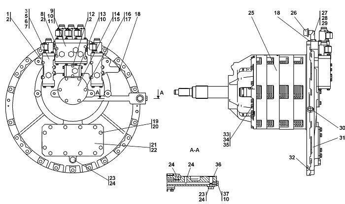 0901-12-11CП Коробка передач с системой гидроуправления бульдозера Четра Т 9