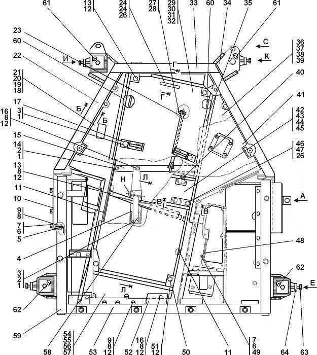 0901-24-1-02СП Пол бульдозера Четра Т 9