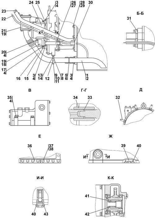 Установка трансмиссии Четра Т 11