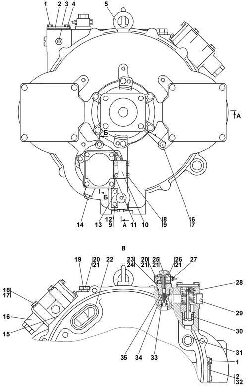 1101-14-2-01СП Гидротрансформатор с редуктором привода насосов