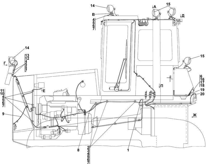 1106-10-1-08СП/-09СП Электрооборудование Четра Т 11