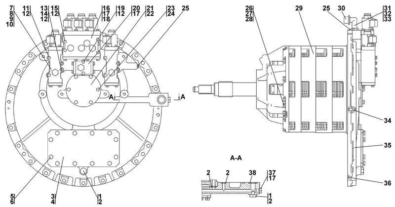 0901-12-11CП Коробка передач с системой гидроуправления Четра Т 11
