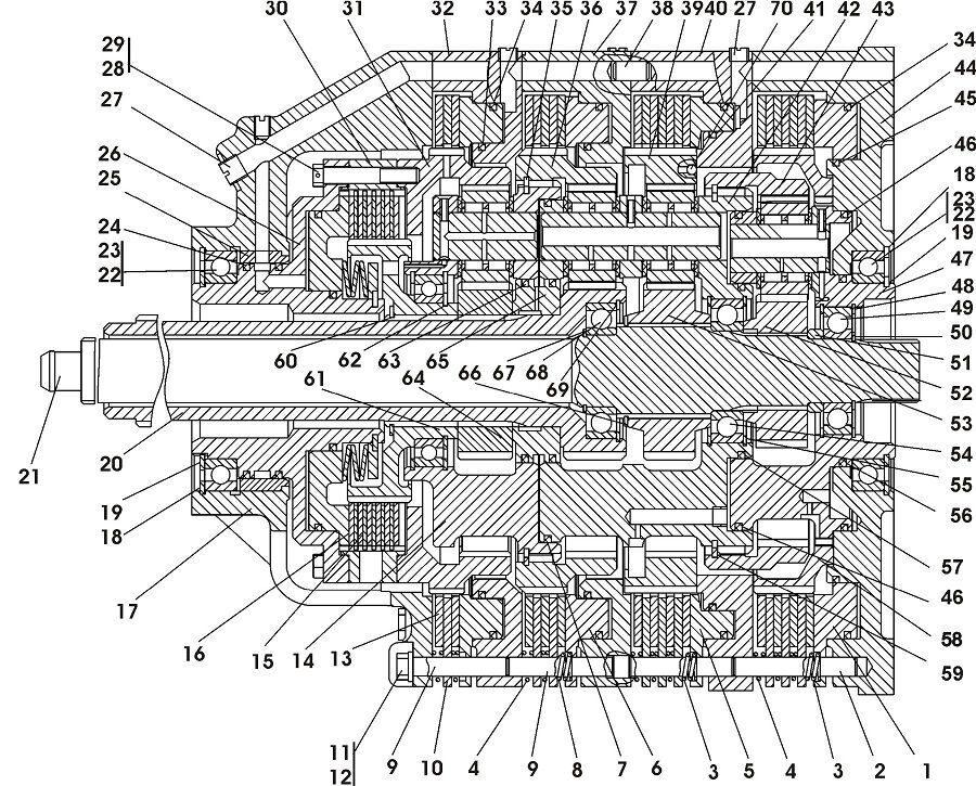 0901-12-10СП Коробка передач планетарная бульдозера Четра Т 9