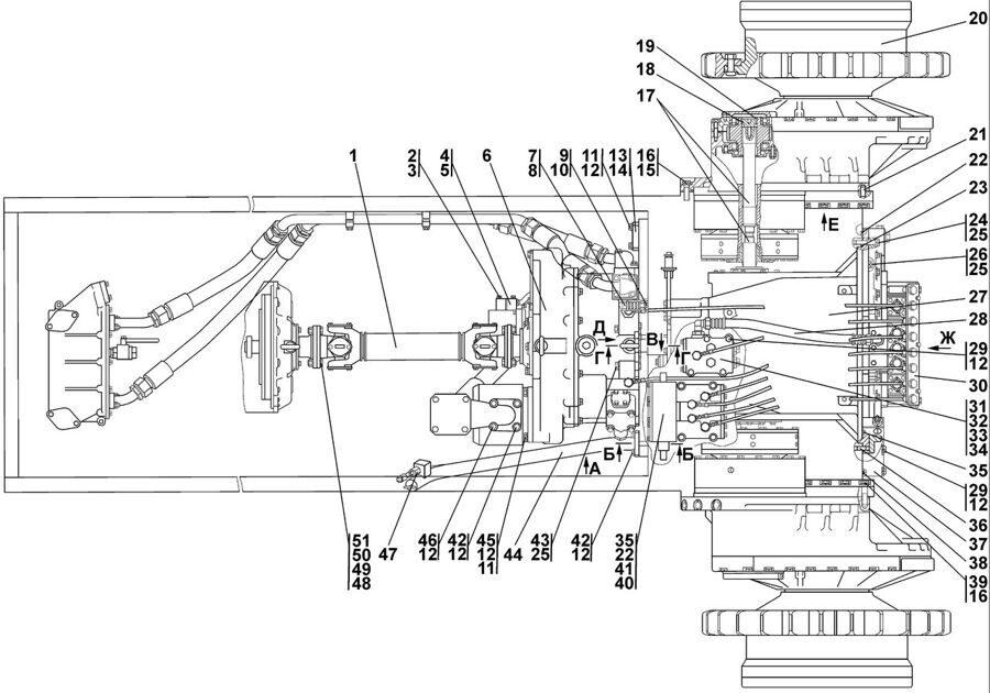 1101-16-2СП Установка трансмиссии Четра Т 11