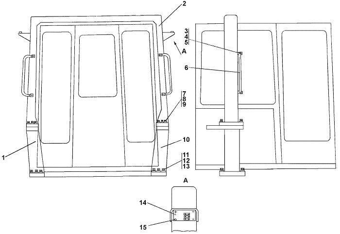 0901-61-1СП Установка защиты кабины бульдозера Четра Т 9