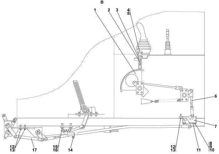 1 Привод управления бульдозера Четра Т 9