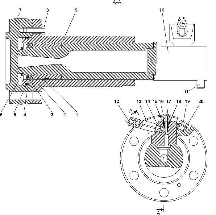 0901-21-117СП/-117-01СП Механизм натяжения бульдозера Четра Т 9