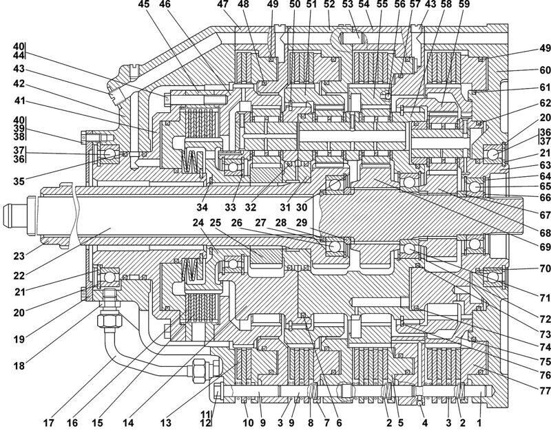 0901-12-10СП Коробка передач Четра Т 11