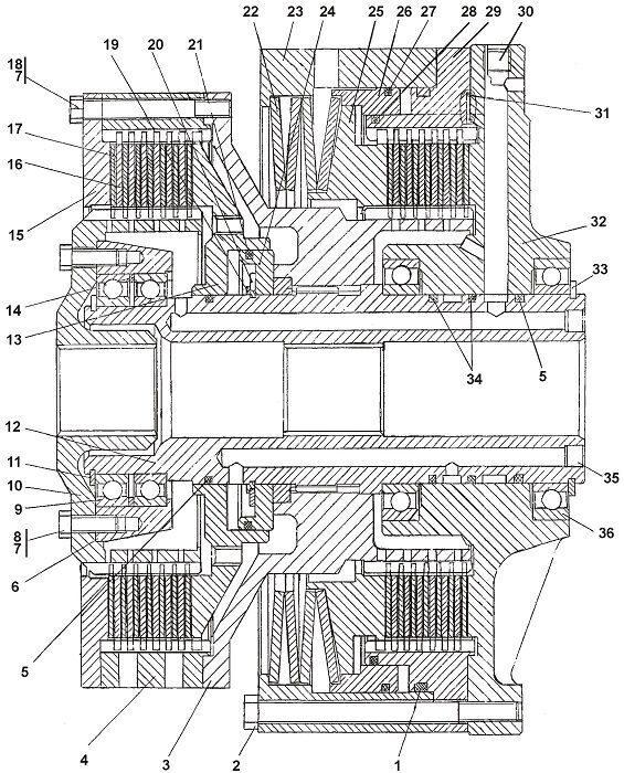 1101-18-10СП Фрикцион бортовой и тормоз остановочный бульдозера Четра Т 9